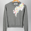 Thumbnail: Louisa Embellished Grey Cropped Sweatshirt