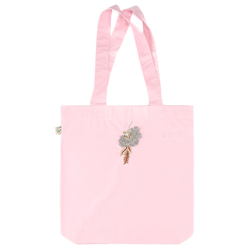 Pink Carrie Tote Bag