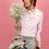 Thumbnail: Louisa Embellished Pink Cropped Sweatshirt