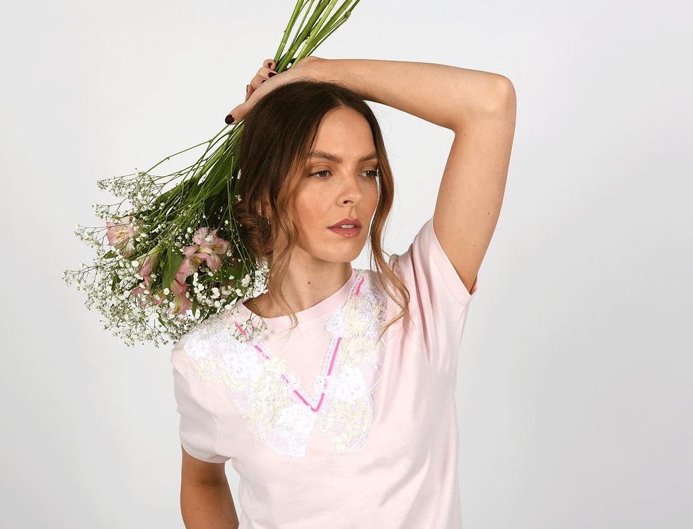 Billie Embellished Pink T-Shirt
