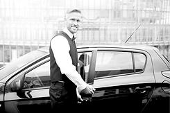 valet attendant opening a car door