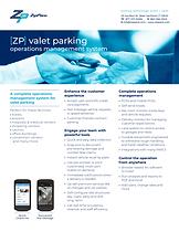 valet info sheet