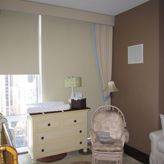 Blacout roller shades and draperies in k