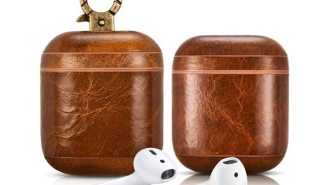 Luxury Premium Leather AirPods Case - Light Brown