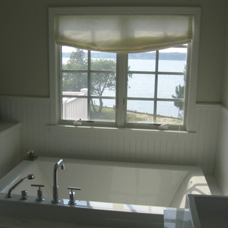 Relaxed roman shade for master bath in H