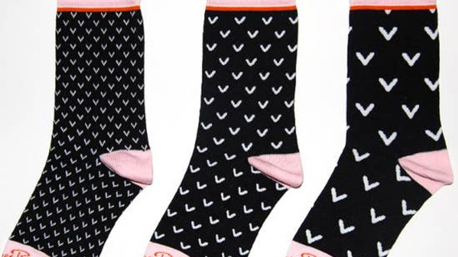 Matching Mismatched Socks for Women Black and Pink