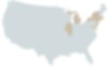 US map, solar