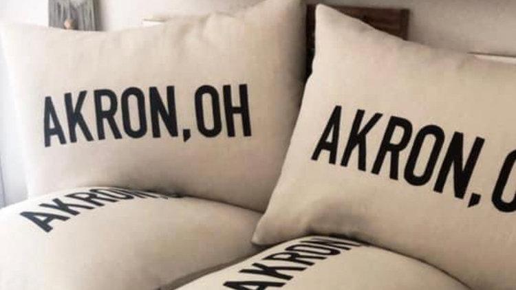 Akron, OH Pillow