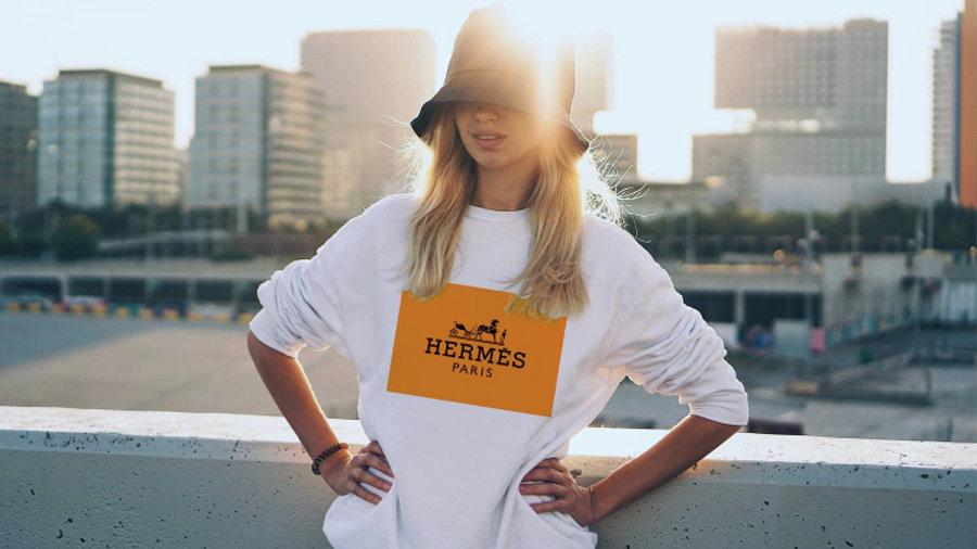 Hermes Label Crewneck
