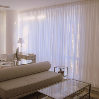 pinch pleated drapes in New York apartme