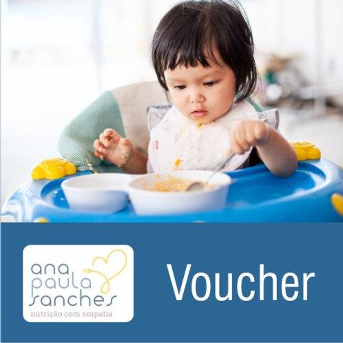 VOUCHER ASSESSORIA NA INTRODUÇÃO ALIMENTAR FASE II - Bebês entre 8 e 10 meses
