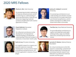 이태우 교수님 2020년 MRS fellow (석학회원) 선정