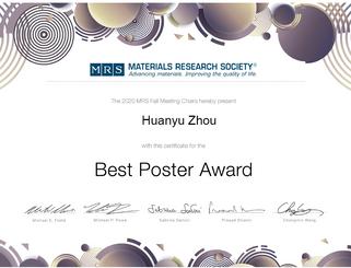 주환우(박사과정) MRS Poster Award 수상