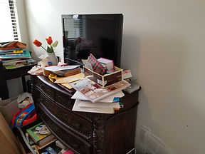 Cluttered Guest Room