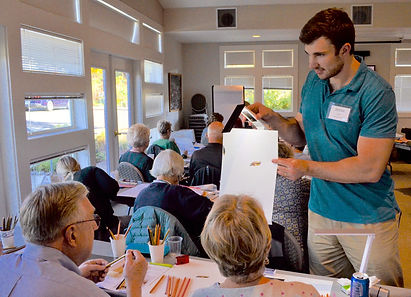 Artist Jesse Lane teaching workshop