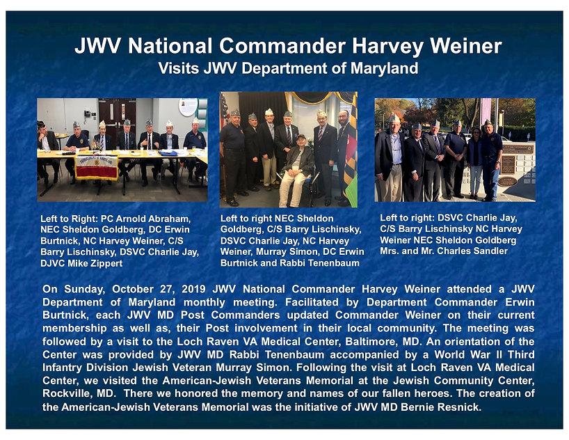 2019 10 27 JWV NC Harvey Weiner Visit Ma