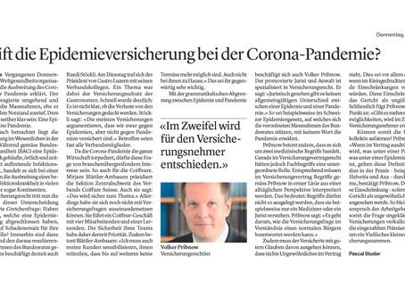 Greift die Epidemieversicherung bei der Corona-Pandemie