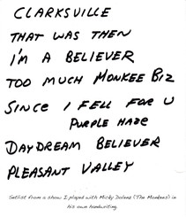 Setlist from concert with Micky Dolenz.jpg