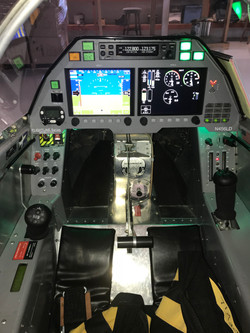 Cockpit with lights