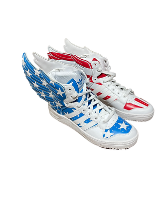 Jeremy Scott Adidas Sneakers Red White Blue