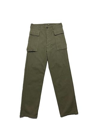 VISVIM 3/L- SS19 Tioga Cargo Pants (Herringbone) - Olive
