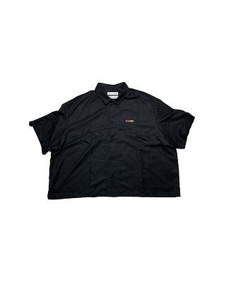 Pyer Moss x Reebok Black Button Up Shirt