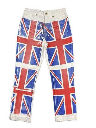 Dolce Gabbana British Flag Print Pants
