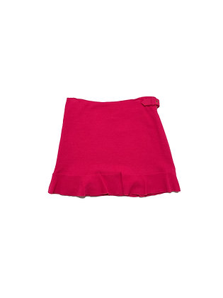 Moschino Pink Crepe Buckled Mini Skirt