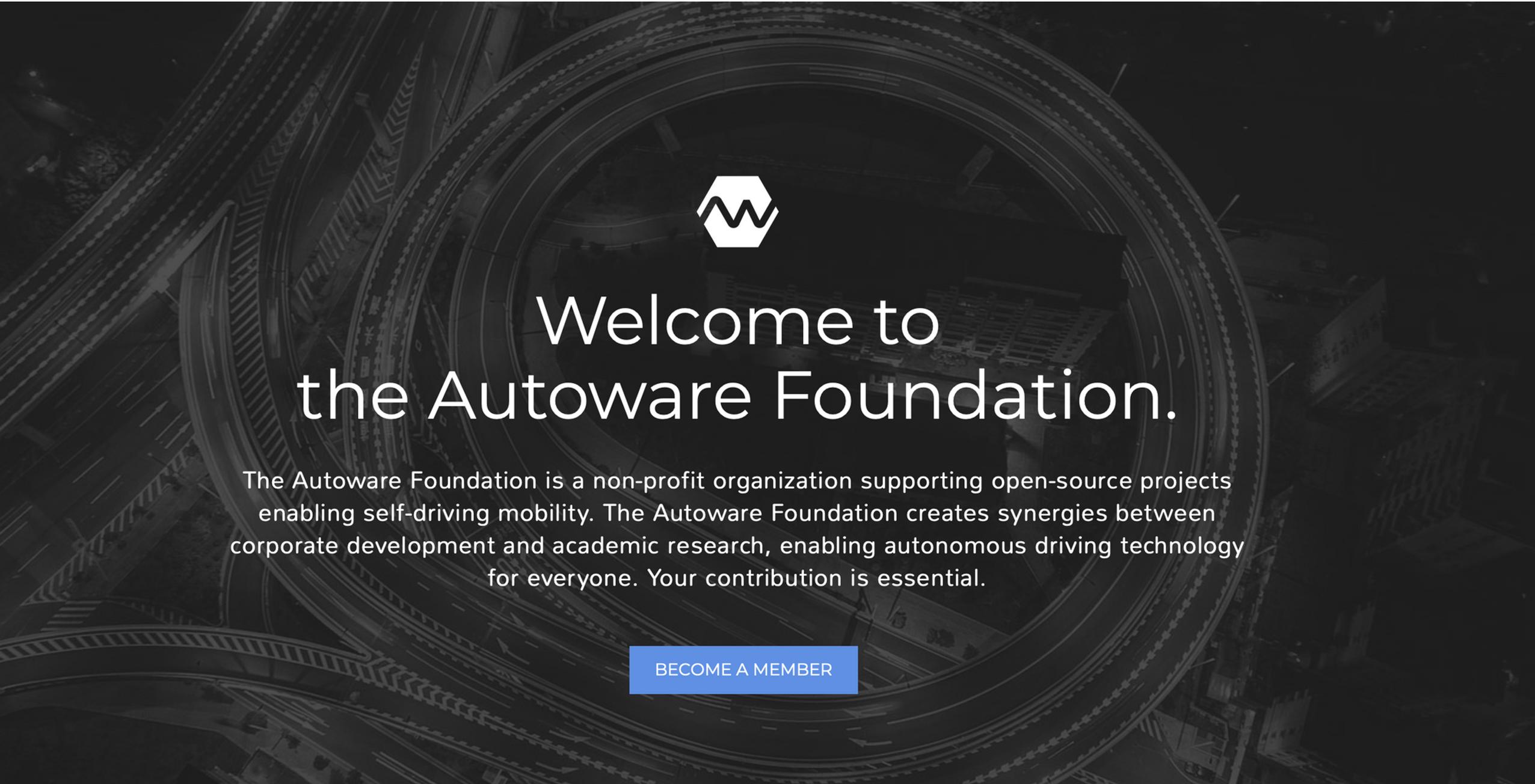 The Autoware Foundation - Open Source for Autonomous Driving