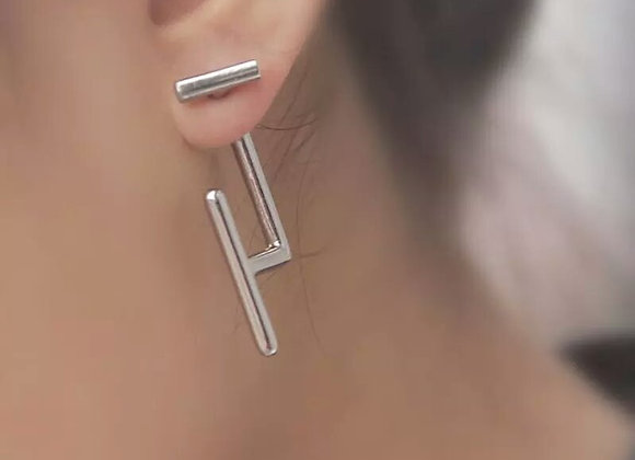 Back Front Stud Earring