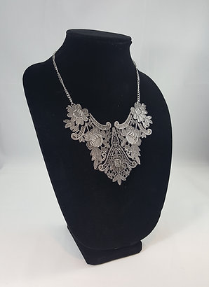 Vintage Flower Bib/Necklace