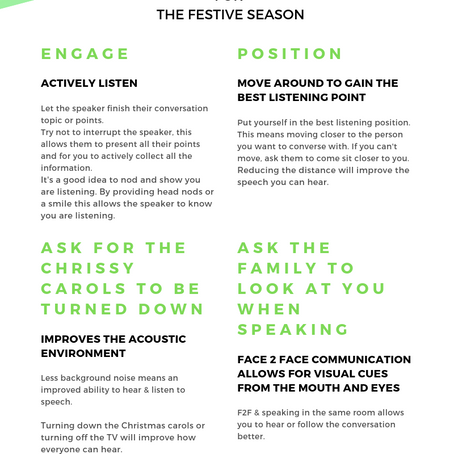 Christmas is coming!  Hearing Collective communication tips