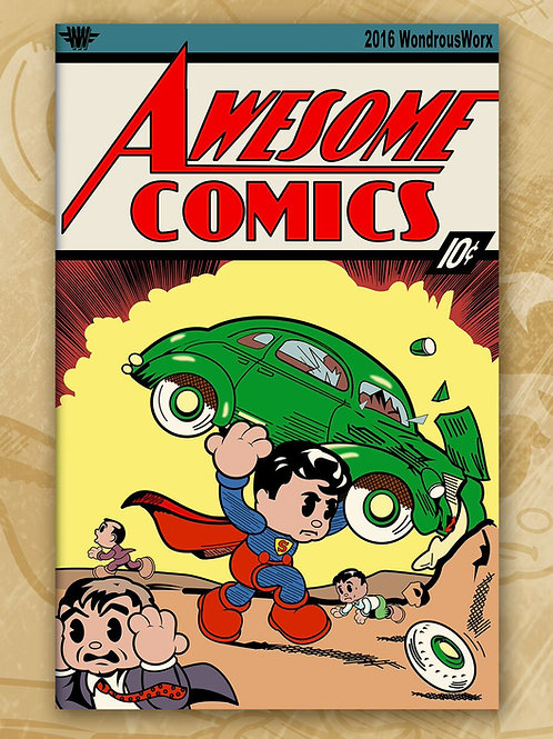 Awesome Comics -Supey Man Scrappy Toon