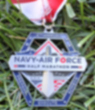 Navy-Air Force Half-Marathon Finisher's Medal