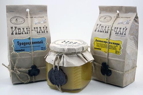 Мед + иван-чай 2 пакетика