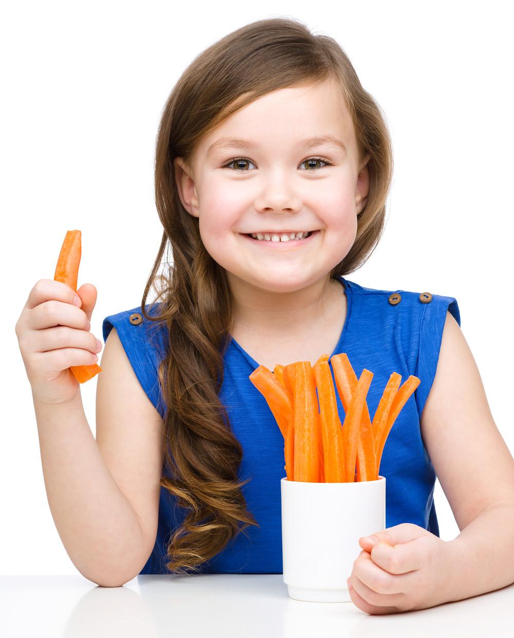 Carrots, not cheez-snakz