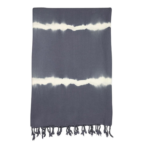 Smoke Tie Dye Turkish Beach Towel