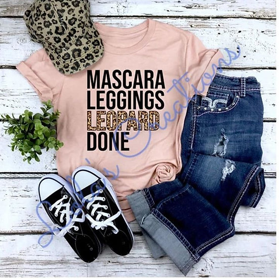 Mascara, Leggings, Leopard