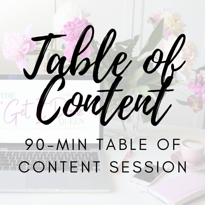 Table of Content Session