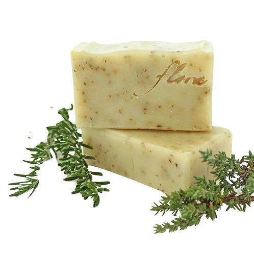 Flora Naturpflege - Rosmarin Thymian Peeling Seife