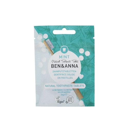 Ben&Anna - Zahn Tabletten Mint ohne Fluorid (100 Stück)