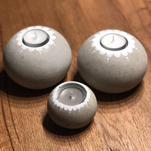 Beton Teelichter rund