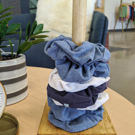 Scrunchies made from unwanted T-shirts