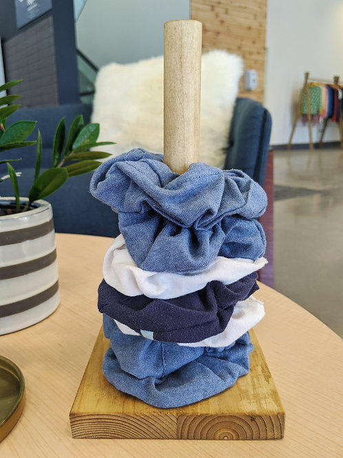 Light Washed Scrunchie Holder
