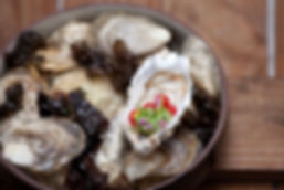 Oyster, redcurrants and beach herbs..jpg