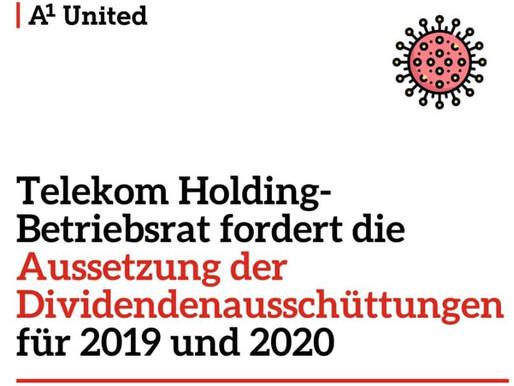 Telekom Holding-Betriebsrat fordert die Aussetzung der Dividendenausschüttungen für 2019 und 2020