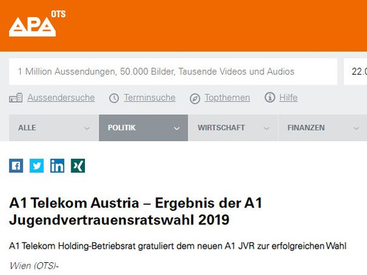 A1 Telekom Holding-Betriebsrat gratuliert dem neuen A1 JVR zur erfolgreichen Wahl