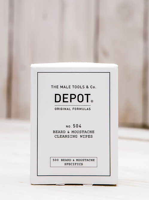 No. 504 BEARD & MOUSTACHE CLEANSING WIPES