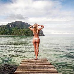 Bikini 👙 photo shoot at Phi Phi islands, Thailand 🌏_Model_ _celinelisee_