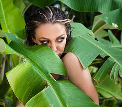 Photo shoot for a new bikini line while on a short layover in Hawaii with _palmscollective and _eunj